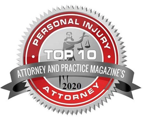 Personal Injury Attorney Award Stamp